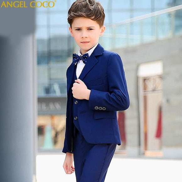 Boys Blue Suits for Weddings - little-darling-fashion-online