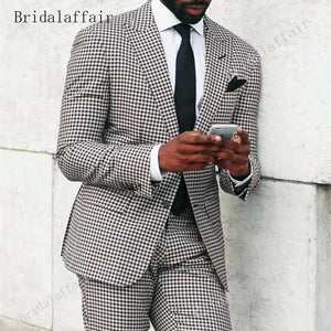 Bridalaffair Brand Style Suits Men Black White Floral Pattern Men Suit