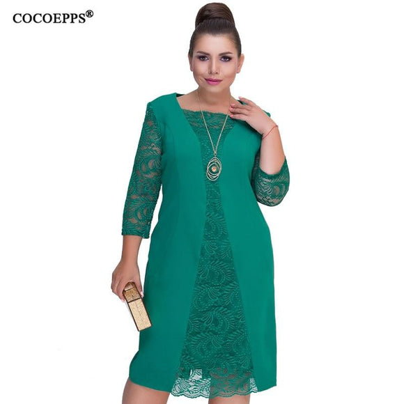 COCOEPPS 6XL Lace Mother of the Bride Dress - little-darling-fashion-online