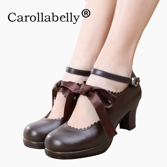 Carollabelly Sweet Princess Soft Leather Work Shoes by Pick a Product