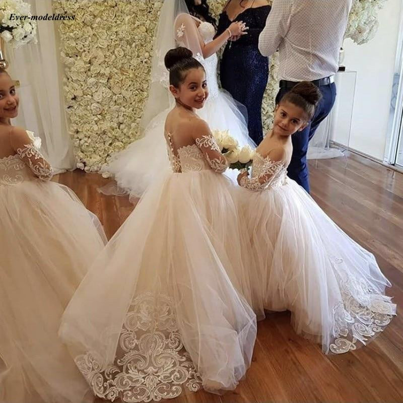 0760f91df36 Champagne Flower Girl Dresses For Wedding 2019 by Pick a Product