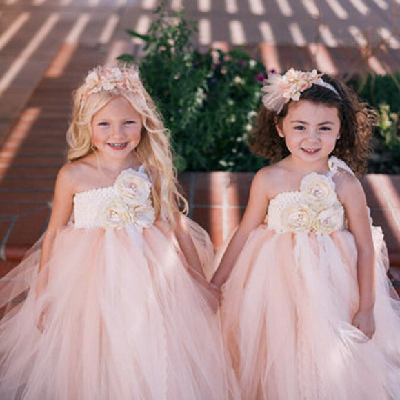Champagne Summer Flower Girls Dresses Beige Kids by Pick a Product