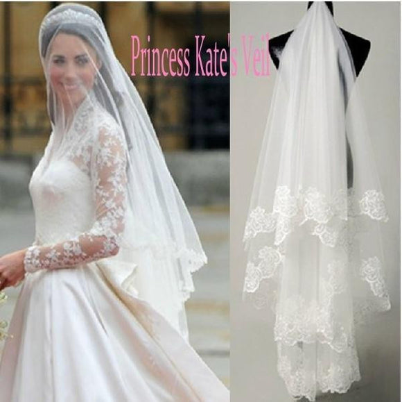Cheap Tulle Appliques Veils Wedding Accessories