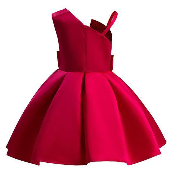c0868fdc Lovely Red/Blue Satin Flower Girl Dress (3-10 Years) by Pick a Product