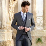 Classic Grey Groom Tuxedos (Jacket+Pant+Vest+Tie) by Pick a Product