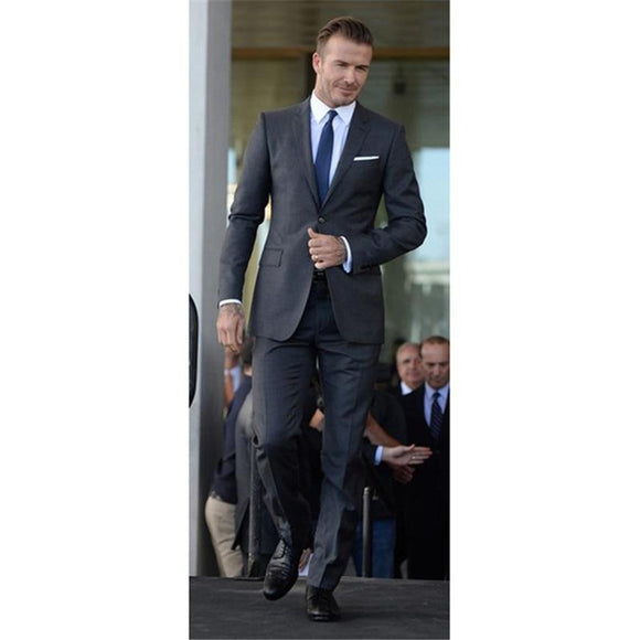 Classic Grey Men Wedding Suit (Jacket+Pants)