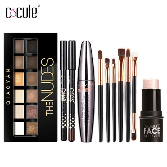 Cocute Makeup Tool Kit 4 PCS Including Makeup Brush by Pick a Product