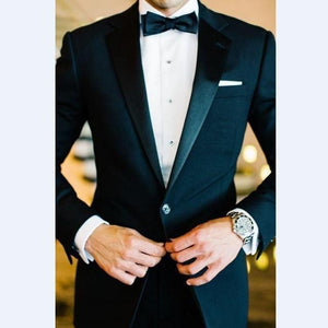 Satin Lapel Men Suit (Jacket+Pants+Tie+Hankerchief) by Pick a Product