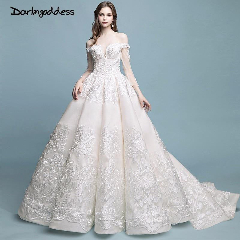 e9e181a9d3 Darlingoddess Robe De Mariage Vintage Luxury Lace Wedding Dresses ...
