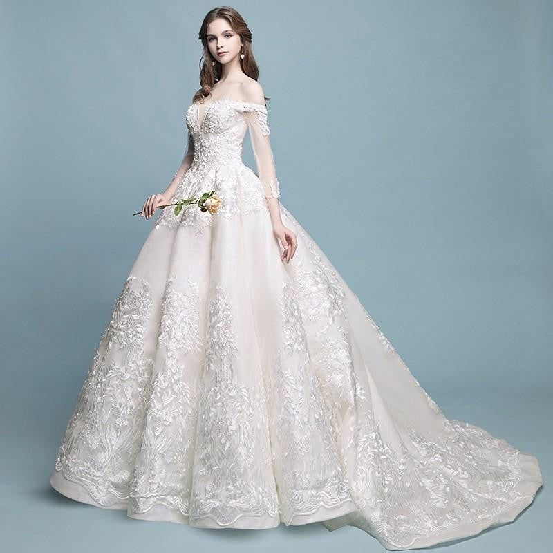 4a9c93d49a ... Darlingoddess Robe De Mariage Vintage Luxury Lace Wedding Dresses ...