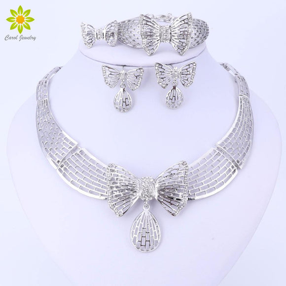 Dubai Silver Plated Jewelry Fine Jewelry Sets