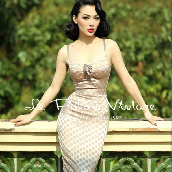 Elegant Sexy Vintage Hepburn Tube Top Dress - little-darling-fashion-online