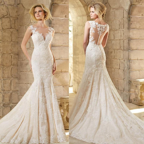 Elegant Women Mermaid Wedding Dress