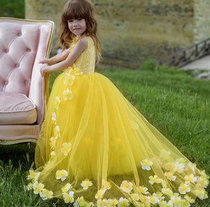Elegant Yellow 2018 Flower Girl Dresses For Weddings by Pick a Product