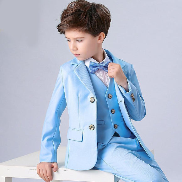 England Style Blue Boys Formal Suits - little-darling-fashion-online