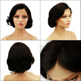 Eseewigs Short Lace Front Wigs Human Hair Side Part Brazilian Remy Human Hair Glueless Front Wigs for African American Women