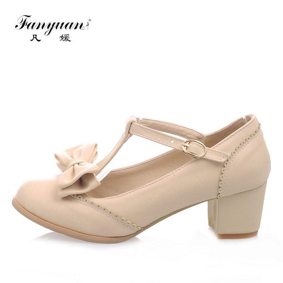 Fanyuan T-Strap Women High Heel Shoes by Pick a Product