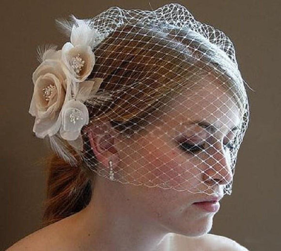 Fashion Bridal Net Feather Hats - little-darling-fashion-online
