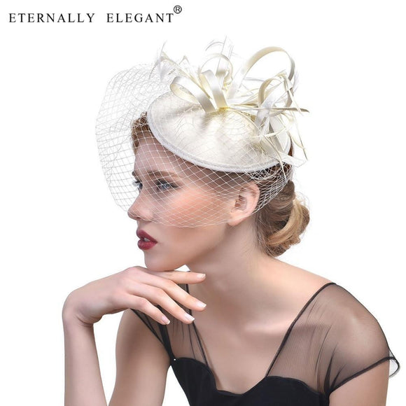 Fashion Fascinator Feather Wedding Cocktail Bridal Headwear Bridal Hair Accessories  For Wedding  Party Hats EL678