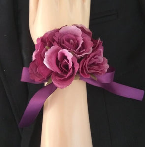 Free shipping 2018 New 12 Colors bride groom wedding corsages and boutonnieres rose wrist flower