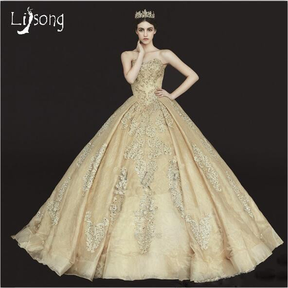 Gorgeous Champagne Wedding Dress By Pick A Product