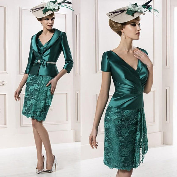 Green 2019 Mother Of The Bride Dresses - little-darling-fashion-online