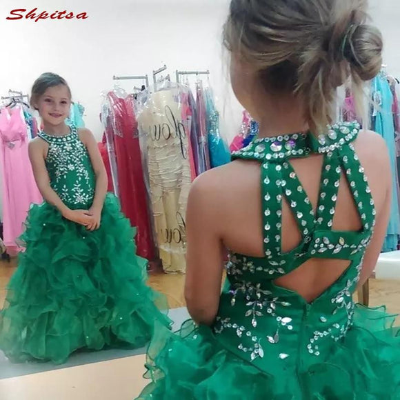 Green Flower Girl Dresses for Weddings