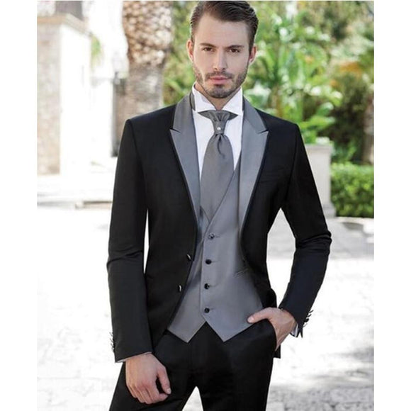 Grey/Silver Mens Formal Suits (Jacket+Pants+Vest) by Pick a Product
