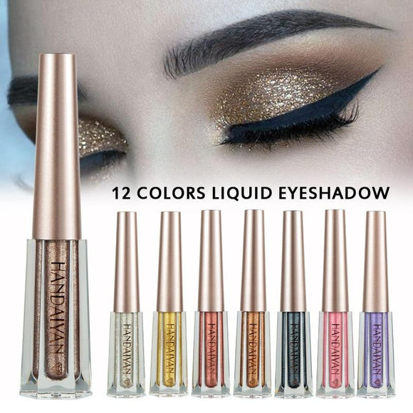 HANDAIYAN Shimmer Metallic Liquid Eyeshadow - little-darling-fashion-online