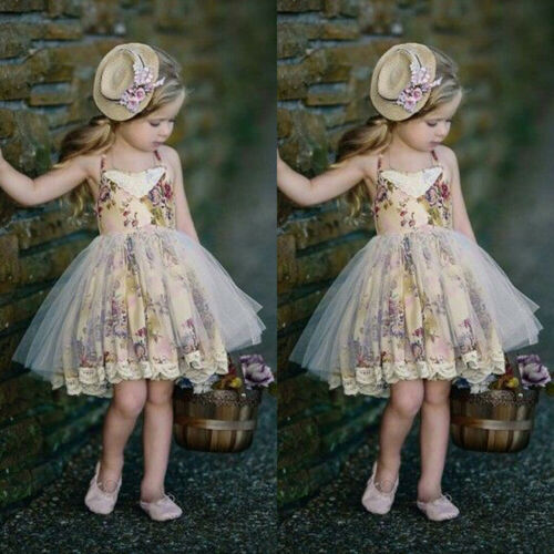 Sleeveless Lace Flower Girls' Lace Tulle Dress by PickAProduct