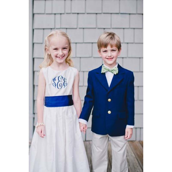 Royal Blue Boys Formal Suit (Jacket+Pants+Bow Tie) - little-darling-fashion-online