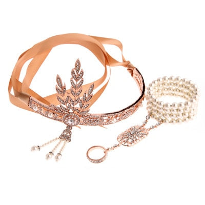 1920's The Great Gatsby Headband Ring and Tiara Sets - little-darling-fashion-online