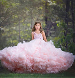 Luxury Pink Cloud Princess Dress for Wedding Pageant - little-darling-fashion-online