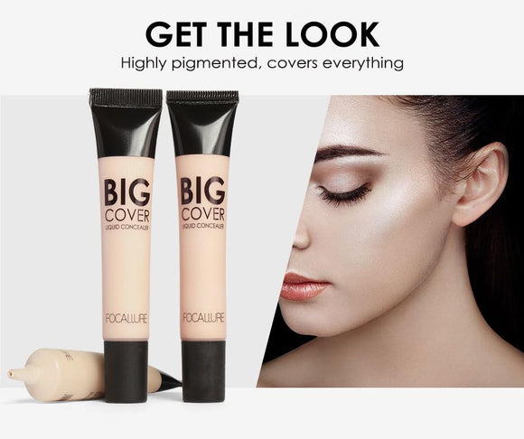 FOCALLURE Big Cover Liquid Concealer Face Cream - little-darling-fashion-online