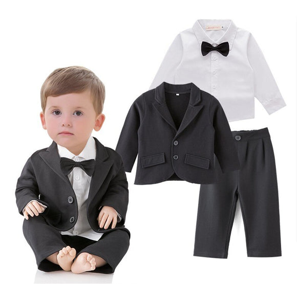 2019 New Arrival Lovely Baby Boy Wedding Party Suit - little-darling-fashion-online