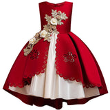 Banquet Appliques Princess Flower Girl Dresses - little-darling-fashion-online