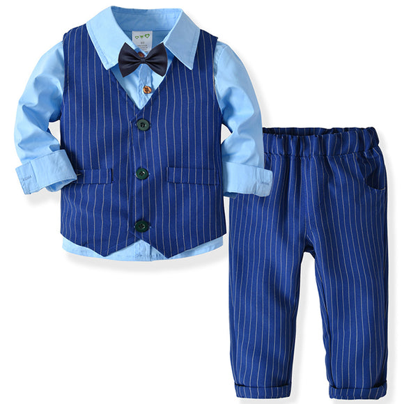 Children's Spring Autumn Suit (Shirt+Vest+Pants) - little-darling-fashion-online