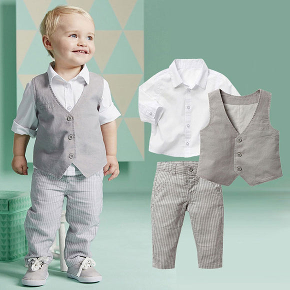 Formal Cotton Clothing Sets For Baby Boy Wedding - little-darling-fashion-online
