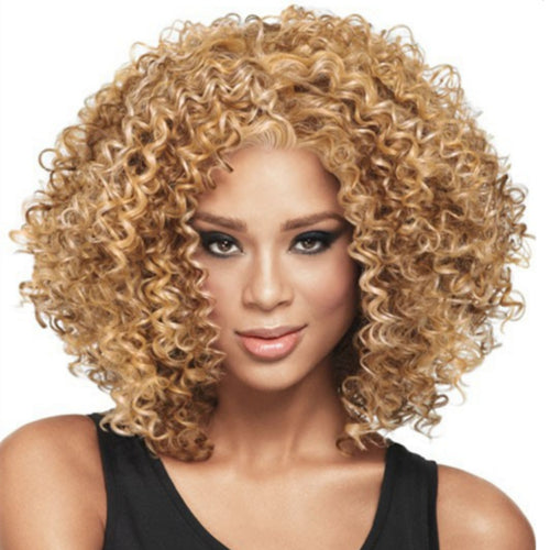 Short Golden Costume Hair Wig for Women - little-darling-fashion-online