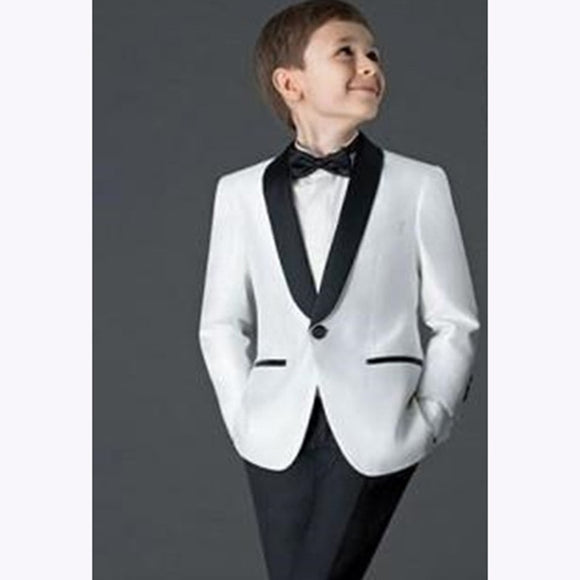 Children Black and White 2 Piece Suit (Jacket+Pants) - little-darling-fashion-online