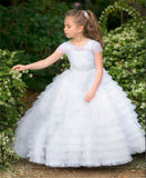 Tiered Tulle Lace Ball Gown Holy First Communion Gown by PickAProduct