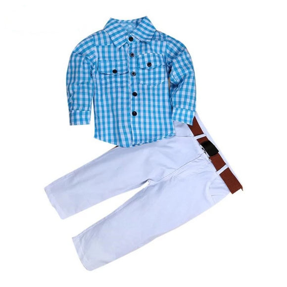 Boys Clothes Tops+Long Pants Vestido de Festa - little-darling-fashion-online