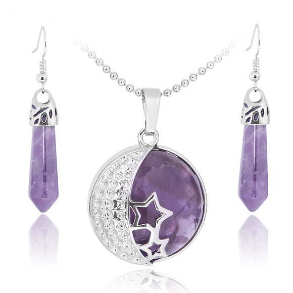 Classic Love Gift Moon Stars Women's Jewelry Set - little-darling-fashion-online