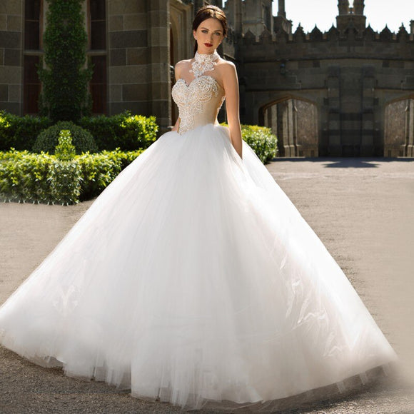 Vestido De Noiva Fashionable Ball Gown Wedding Dress by PickAProduct