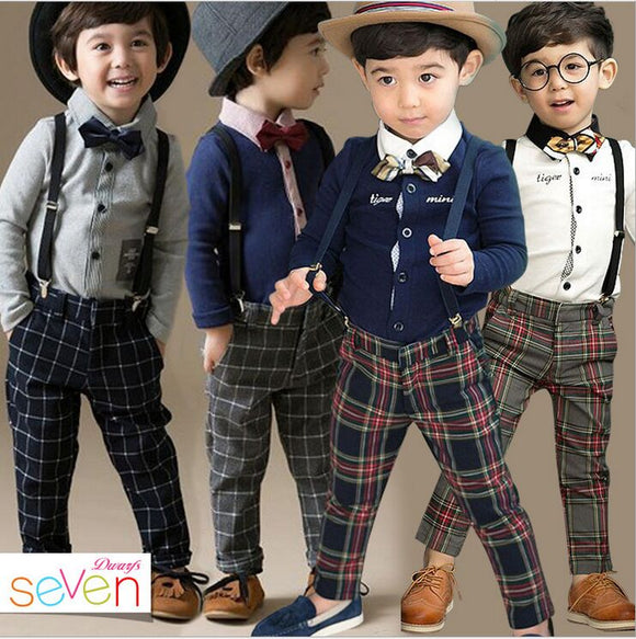 England Style Cotton Boy's Wedding Party Suits - little-darling-fashion-online