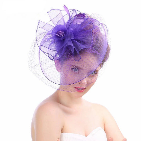 2019 Vintage Womens Wedding Hats with Face Veil - little-darling-fashion-online