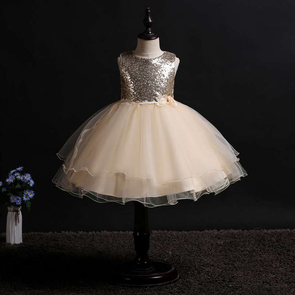 Satin Ivory Flower Girl Communion Pageant Dresses - little-darling-fashion-online