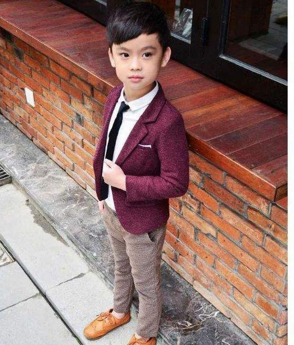Classic Plaid Boys Suits For Weddings - little-darling-fashion-online