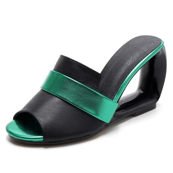 Genuine Leather Super High Heel Women's Sandals - little-darling-fashion-online