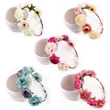 Haaraccessoires bruid new 6-color fashion bohemian flower headband Bridal photo headdress wedding hats and fascinators wholesale